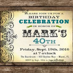 Awesome Th Birthday Party Invitations Wording Crafts - Unique birthday invitations adults