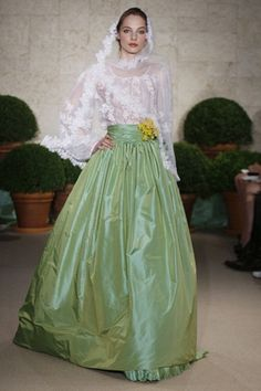 How absolutely divine for a spring wedding by Oscar de la Renta