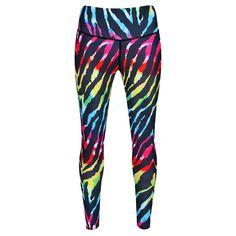 cb05c001f723d Rainbow Tiger (M) Tiger Stripes, Striped Leggings, Tiger Print, Workout  Leggings