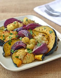 Oven Roasted Vegetables with Mustard and Warm Lentils-by Erin Clarke-1 by Law Students Wife, via Flickr