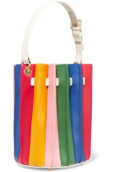 Multicolored leather (Calf) Snap-fastening tab at open top  Comes with dust bag Weighs approximately 2lbs/ 0.9kg Made in ItalyAs seen in The EDIT magazine