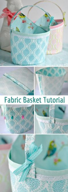 Fabric Basket Tutorial. How-to step by step. http://www.free-tutorial.net/2017/09/fabric-basket-tutorial.html
