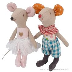 Maileg Ballerina Mouse  Adorable ballerina mouse from Danish toy maker Maileg.  $23.00