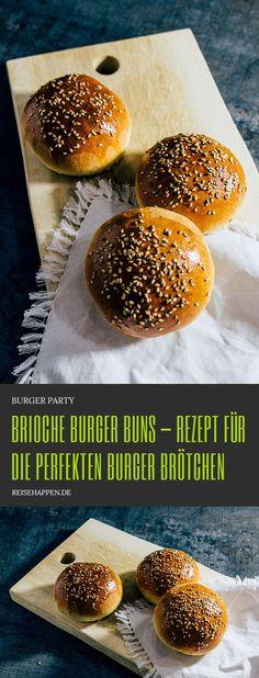 Brioche Burger Buns - Recipe for perfect burger buns .- Brioche Burger Buns – the perfect burger bun