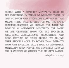 stephen covey quote about scarcity