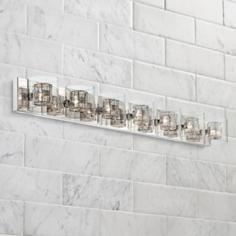 """Possini Euro Design Wrapped Wire 56"""" Wide Bathroom Light"""