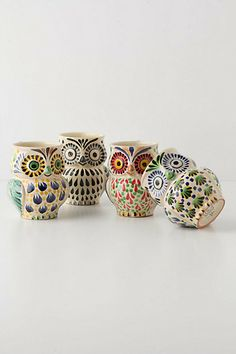 anthro owl mugs - Want!!