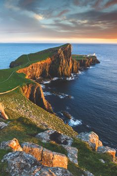 """Neist Point Lighthouse in the Isle of Skye  """