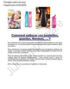 Comment nettoyer vos bouteilles, gourdes et thermos.