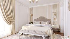 Design Interior Apartament în stil Neoclasic, Complex VallettaCreativ Interior Interior Design, Mirror, Bed, Furniture, Home Decor, Nest Design, Decoration Home, Home Interior Design, Stream Bed
