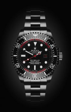 Rolex Deep Sea: Deep Red with DLC. #Rolex