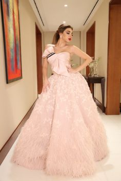 11 Times Myriam Fares Stunned in Rami Kadi Indian Wedding Gowns, Desi Wedding Dresses, Indian Gowns Dresses, Evening Dresses, Designer Party Wear Dresses, Indian Designer Outfits, Couture Dresses, Fashion Dresses, Lehnga Dress