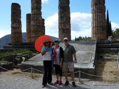 Delphi, Greece---Anniversary couple loving Delphi. What would 'you' ask the Oracle?? #CustomizedTours #GreeceSacredPlaces #SacredPlaces #GreeceVacations #BucketListVacations Archaeologous.com at your service Delphi Greece, In Plan, Greece Vacation, Meeting New People, Day Tours, Dream Vacations, Mount Rushmore, Turkey, Anniversary