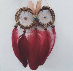 A personal favorite from my Etsy shop https://www.etsy.com/listing/247086245/small-autumn-owl-wreath-dream-catcher