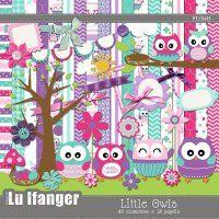 Kit Digital Little Owls by Lu Ifanger