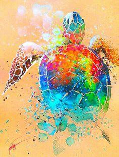 Tilen Ti, Turtle I (Gouache Paint)