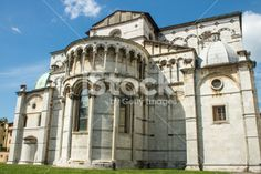 Back side of Lucca Cathedral Royalty Free Stock Photo