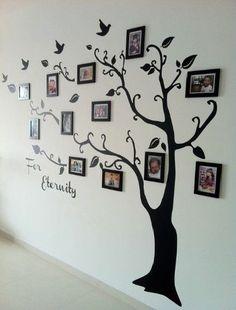 Family tree ideas wall photo displays Ideas for 2019 Family Tree Mural, Family Wall, Family Trees, Tree Wall Painting, Tree Wall Art, Diy Painting, Family Tree With Pictures, Family Tree Designs, Photocollage