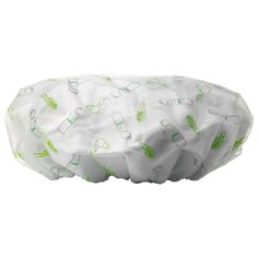 What it is:A terrycloth-lined shower cap to lock out moisture, keep hair dry, and prolong hair styles between washes.							 What it does:Protect those beautiful tresses and keep hair perfectly dry. This over-sized, white shower cap is lined with te