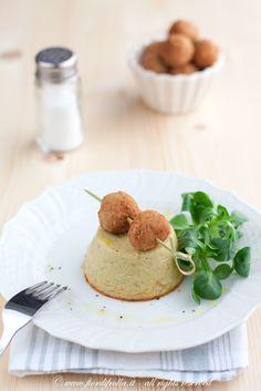 Flan di carciofi e parmigiano con polpettine di vitello       #recipe #juliesoissons