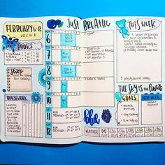 Je kunt ervoor kiezen om elke week een eigen kleur te geven, zoals in dit geval blauw.