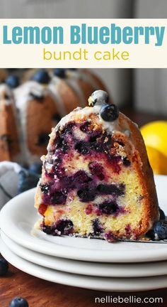 This is an easy lemon blueberry bundt cake full of zesty lemon flavor, sweet blueberries, and topped with a lemon glaze. Made with sour cream, this bundt cake will be your family's new favorite! Lemon Blueberry Bundt Cake, Blueberry Recipes, Blueberry Bread, Tea Cakes, Cupcake Cakes, Bundt Cakes, Cupcakes, Easy Cake Decorating, Decorating Ideas