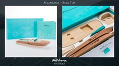 Riva Boutique    Aquarama, the Riva wooden toy: The speedboat that the international jet set fell in love with in the 1960s has become a scale model which combines the charm of a collector's item and the fun of a construction toy.