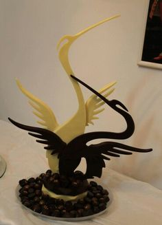 #heron #chocolate #showpiece
