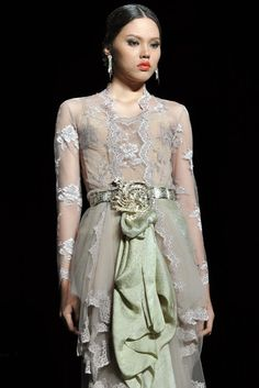 Design by Era Soekamto Kebaya Bali, Indonesian Kebaya, Kebaya Dress, Batik Kebaya, Batik Dress, Lace Dress, Kimono, Lacey Wedding Dress, Gorgeous Wedding Dress