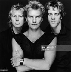 Photo d'actualité : A portrait of British pop group The Police, from...
