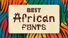 Have you ever wondered about the style and usage of African fonts? If you are interested In these fonts Let's check a few premium designs together today! Typography Fonts, Typography Design, Tribal Images, Africa Tattoos, Schrift Design, All Caps Font, Cool Fonts, Fun Fonts, Africa Art
