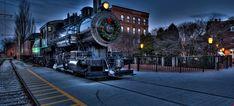 Download 2k Christmas City locomotive Railway - Trains Wallpapers HD Zug Wallpaper, Train Wallpaper, Christmas Train, 4k Uhd, Locomotive, Paths, City, Trains, High Definition
