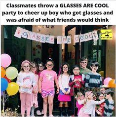 Via: @goodnews_movement on Instagram Warm Fuzzies, New Glasses, Cheer Up, Boys Who, Arkansas, Good News, No Worries, Kindergarten, Memories
