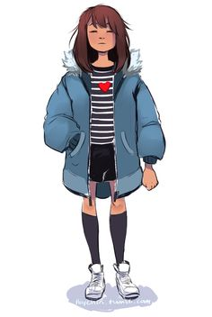 Teen Frisk in Sans' coat is the best thing >w<