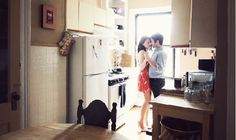 Dance in the kitchen with my wife.