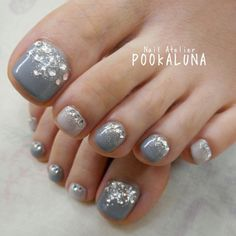 クリックすると新しいウィンドウで開きます Pedicure Designs, Pedicure Nail Art, Toe Nail Designs, Toe Nail Art, Fancy Nails, Love Nails, Pretty Nails, My Nails, Nail Atelier