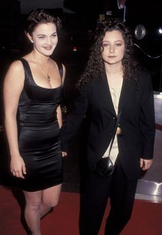 Drew Barrymore and Sara Gilbert at the premiere of Poison Ivy in 1992