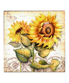 Sunflower Wall Art sunflower wall art | wooden signs | pinterest | sunflowers and walls