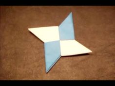 Video on How to Make an Origami Ninja Star (Shuriken) - Double-Sided for Ninjago Birthday Party.