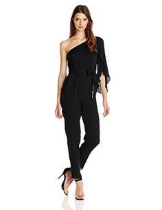 Milly Women's Oneshoulder Silk Tassel Tie Jumpsuit [CUTEST]