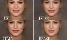 A photo study recently published by an online voucher code company has revealed what the average facial appearance of a Vogue cover girl looks like in seven different countries. High Fashion Photography, Glamour Photography, Editorial Photography, Lifestyle Photography, Average Face, Vogue Covers, Airbrush Makeup, Cover Model, Plastic Surgery