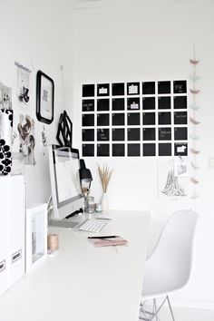"Ideas for decorate with ""Calendar"" wallsticker fermLIVING."