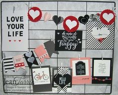 Have you ever looked at something and both liked and disliked it at the same time? I saw the Hello Life Project Kit and knew I wanted it, however, there were parts I was not crazy about makin… Scrapbooking Layouts, Scrapbook Pages, Hello Life, Card Kit, Craft Fairs, Stampin Up Cards, Craft Projects, Craft Ideas, Mini Albums