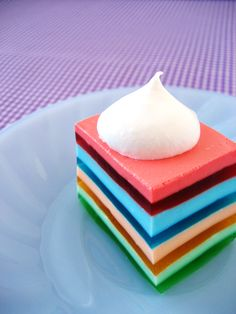 I am pretty sure I'm not patient enough to create layered jello, but I appreciate it's awesome stripeyness