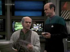 "Clips from Deep Space Nine, Voyager, Enterprise and the new Star Trek Movie of the catch phrase, ""I'm a Doctor, not a...""    To hear Dr. McCoy say the iconic phrase, go to http://www.youtube.com/watch?v=MULMbqQ9LJ8=g-upl"