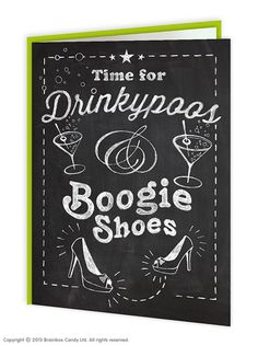 brainboxcandy.com - Drinkypoos Boogie Shoes Greeting Card, £2.50 (http://www.brainboxcandy.com/drinkypoos-boogie-shoes-greeting-card/)