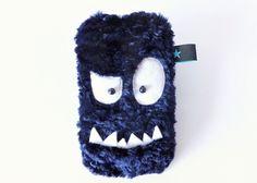 Monster Handy-/smartphone Hülle  dunkelblau von Sofeinsein auf DaWanda.com