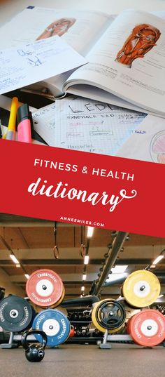 Fitness and health dictionary - Glossary explaining all the weird words and acronyms from the fitness world. Health And Fitness Tips, Health Advice, Health And Wellness, Wellness Tips, Fun Workouts, At Home Workouts, Exercise Routines, Workout Tips, Workout Fitness