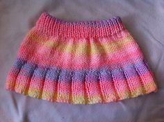 Baby Knitting Patterns Skirt Ravelry: Frilly Skirt Pattern pattern by Crystal-Anne Smith Crochet Doll Clothes, Girl Doll Clothes, Doll Clothes Patterns, Clothing Patterns, Knitting For Kids, Baby Knitting Patterns, Free Knitting, Skirt Pattern Free, Free Pattern