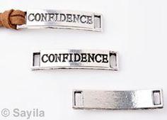 Message Jewelry 'confidence' http://www.sayila.com/go/si/si/37534